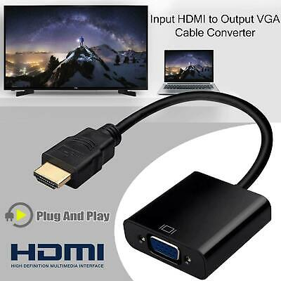 1080P HDMI Male to VGA Female Video Cable Converter Adapter For PC Monitor #16