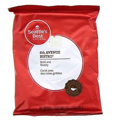 Lot of 32 Bags Seattle's Best 6th Ave Bistro Coffee, 6 oz / 12 lb Total FEB