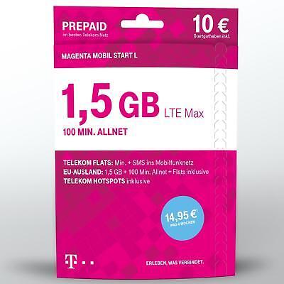 Xtra Karte Telekom Magenta Mobil Start L 10 € Guthaben Prepaid Handy SIM Telekom