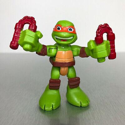 TMNT Half Shell Heroes MIKEY figure w/nunchucks Teenage Mutant Ninja Turtles
