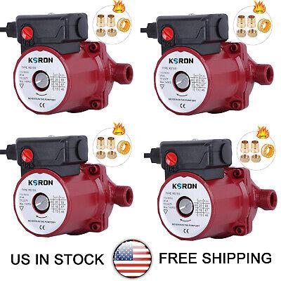 Pack Of 4 Hot Water Circulation Pump 115v Circulatingcirculator Pump Npt 34
