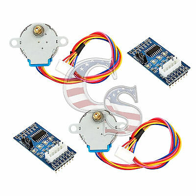 2pcs Dc 5v Stepper Motor 28byj-48 Uln2003 Driver Test Module Board For Arduino