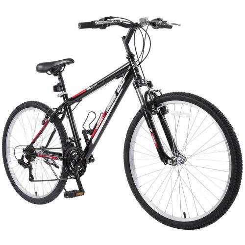 "26"" Mountain Bike 18 Speed Hybrid Bicycle Shimano Suspension Fork School Sports"