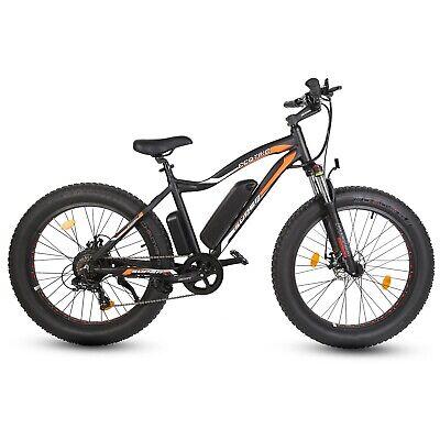 Rocket 36V 500W Fat Tire Ebike Black Electric Bike Beach Snow Bicycle 7 Speed