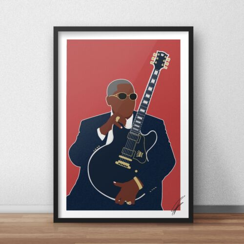 B.B. King INSPIRED WALL ART Print / Poster A3 A4 supreme blues art JAZZ bb king