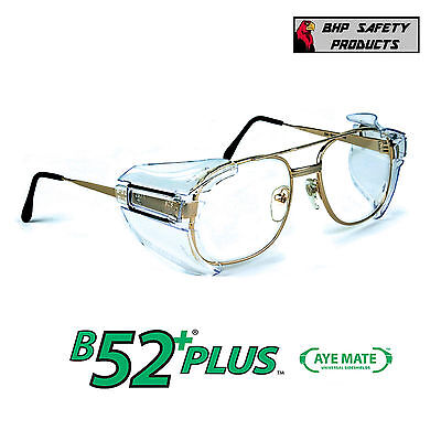 B52+ SIDE SHIELDS FOR RX GLASSES SAFETY EYEWEAR EYE PROTECTION ANSI (Glasses Shields)