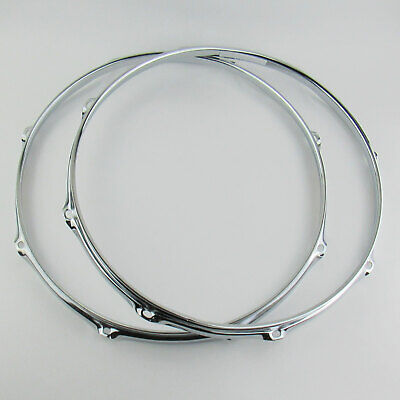 """6-Hole RIMS For Ludwig//Pearl//DW//Etc NEW Replacement 2.3mm 13/"""" TOM DRUM HOOPS"""