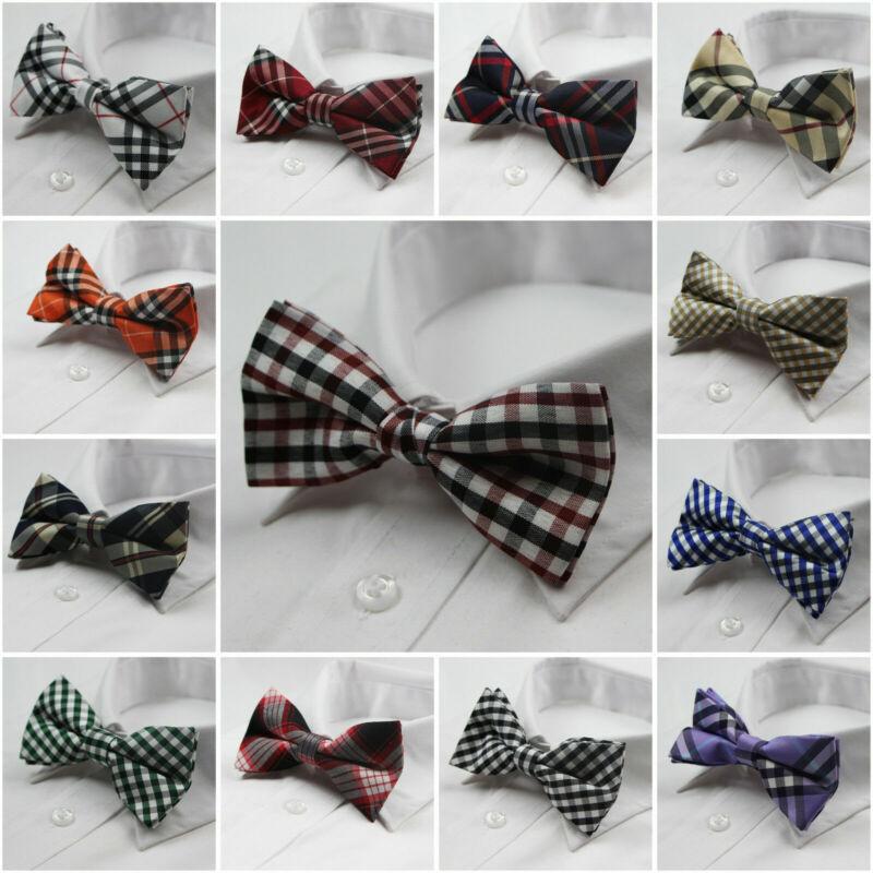 Mens Pre-tied Cotton Bow Tie Men