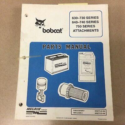 Bobcat 630 640 730 740 750 Series Attachments Parts Manual Skid Steer Loader