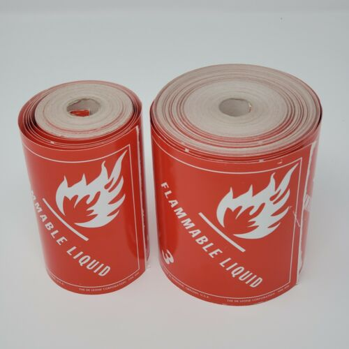 """D.O.T. Labels - Flammable Liquid - Class 3 , 4 x 4"""" (350 Labels in Total)"""