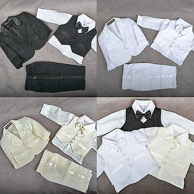 Baby Anzug (5 Teile★Baby★Taufe Anzug Kinder Kommunion Hochzeit Taufanzug Festanzug QX-62★NEU)