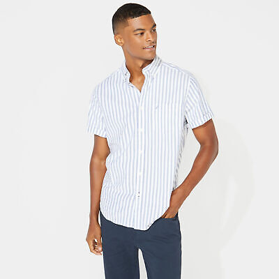 Nautica Mens Classic Fit Striped Oxford Shirt