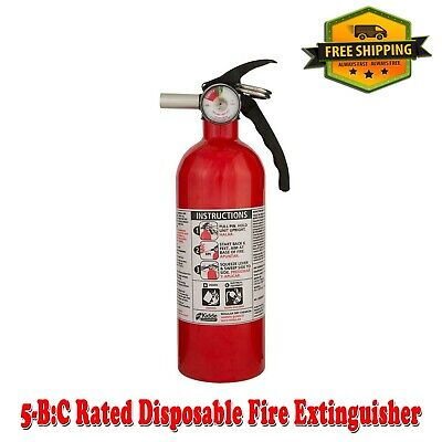 Fire Extinguisher 5-bc Rated Disposable Emergency Home Car Garage Boat Kidde