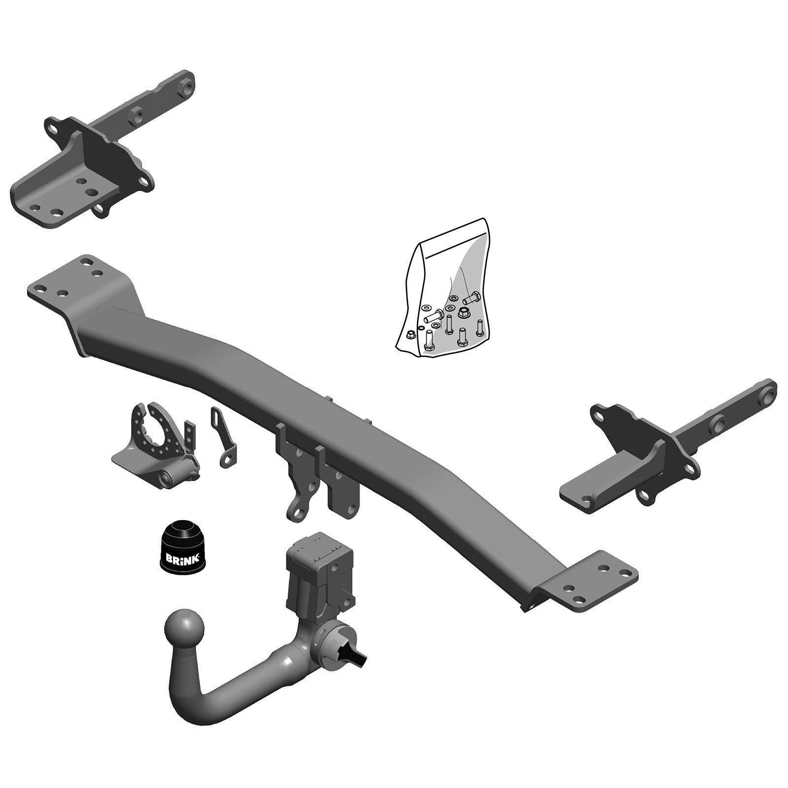 Brink Towbar for Jeep Compass 2016 Onwards - Detachable ...