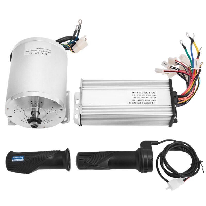 48V 1800W Electric Motor Brushless Speed Controller Scooter Throttle Twist Grips