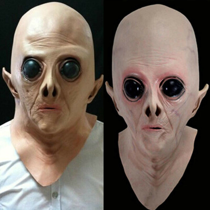 Alien UFO Latex Full Head Face Mask Halloween Costume Cospla