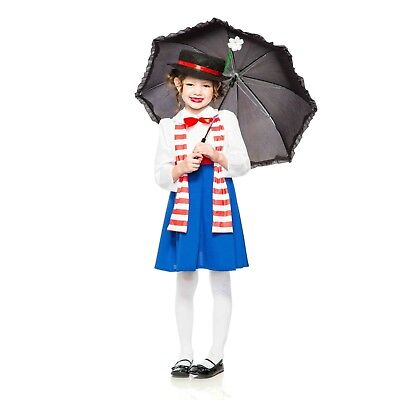 Girl's Mary Poppins English Nanny Victorian Hat Scarf Halloween Costume - Mary Poppins Halloween Costume Hat