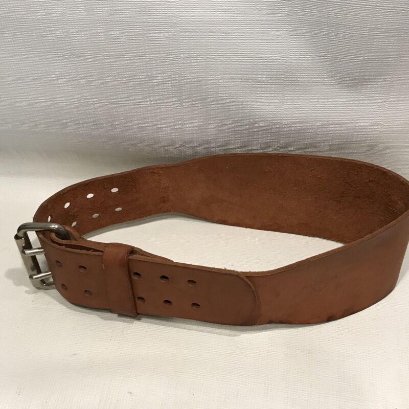 FREE SHIP Vintage Estate Bollinger Leather Weight Lifting Workout Belt 32-36