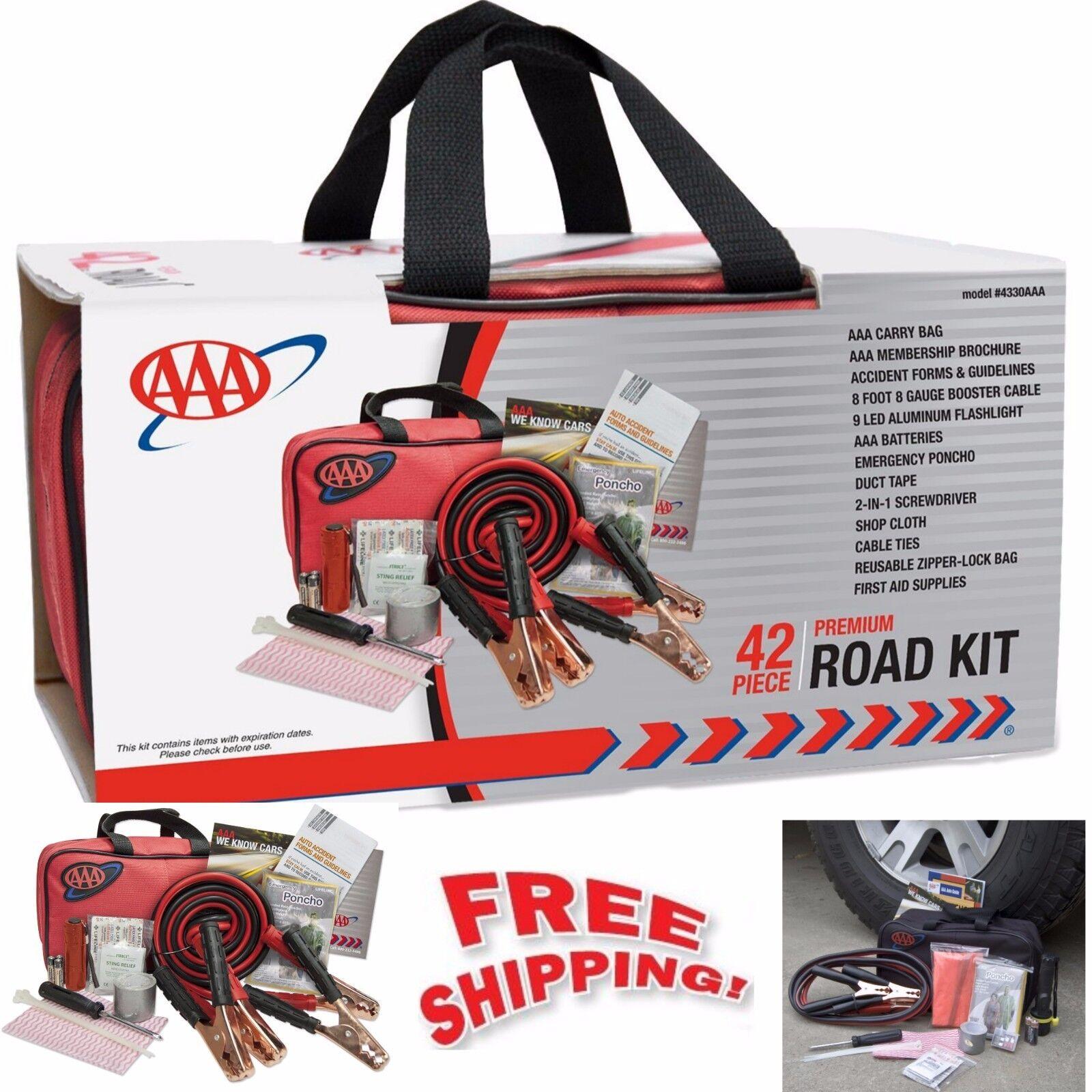roadside emergency assistance kit 42 piece car auto first. Black Bedroom Furniture Sets. Home Design Ideas