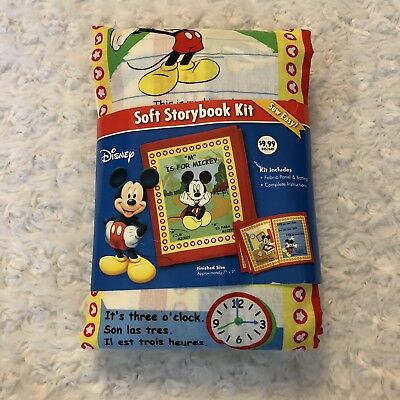 DIY Soft Storybook Kit Fabric Batting French Spanish English (Mickey-mouse-diy)