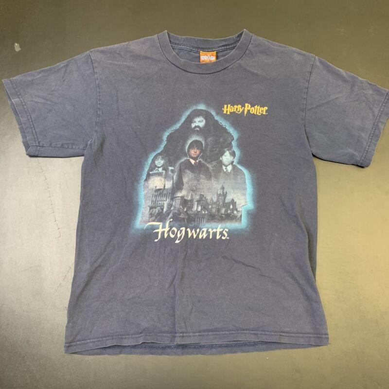Vintage Harry Potter Shirt 2001 Kids L Movie Promo Hogwarts Ron Book