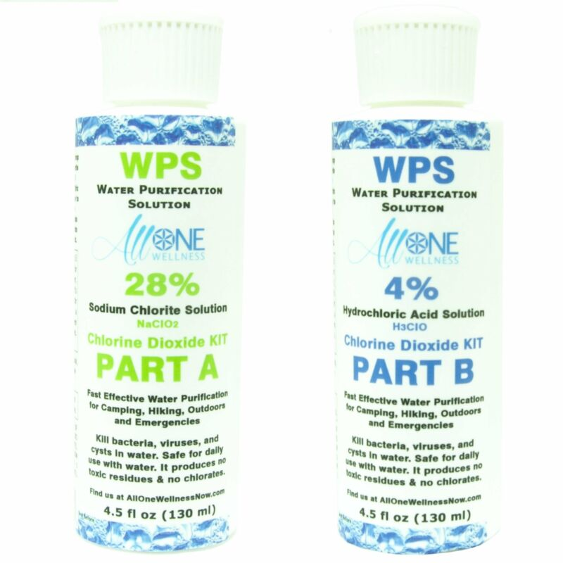 WPS Water Purification Solution Drops CDS WPD   Activator 4% HCL 2 Part KIT