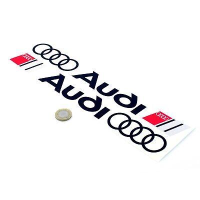 Audi Sport Logo & Rings Stickers Car Decal Vinyl 300mm x2 Side Skirt Graphics