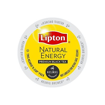 Lipton Natural Energy Premium Black Tea single serve pods for Keurig K-Cup br...