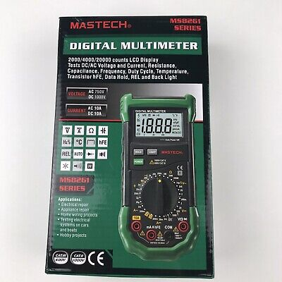 Mastech Ms8261 Digital Multimeter W Acdc Voltage Capacitance Measurement
