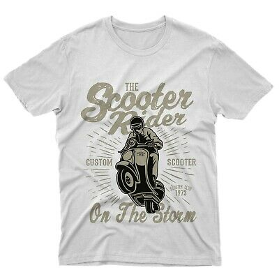 T-Shirt fm10 T-Shirt Scooter Rider vespa custom Geschenkidee gift Engines mitich