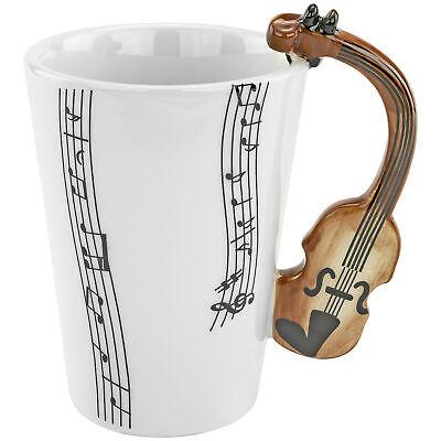 Violin Tea Coffee Mug 8oz Cup Fun Musician Symphony Orchestra Concert Gag Gift Collectibles