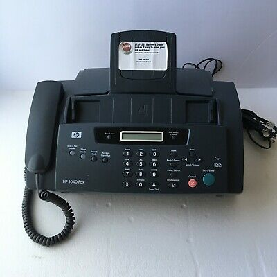 Hp 1040 Inkjet Fax Machine With Built-in Telephone Scan Print Sdgob-0403-01