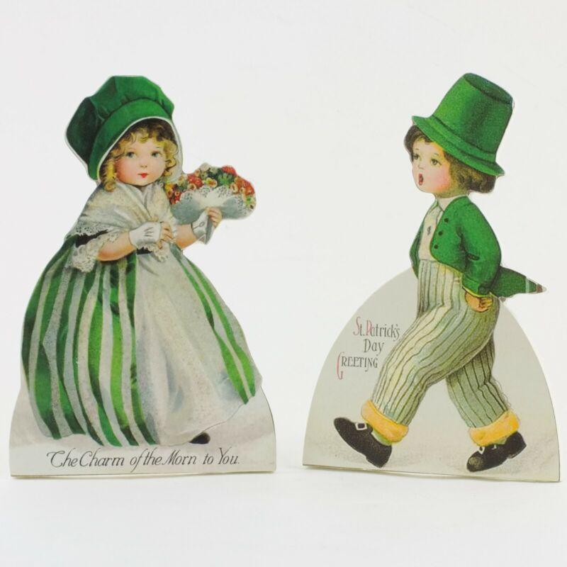 2 Retro Bethany Lowe St Patricks Day Irish Children Kids Dummy Boards DAMAGE