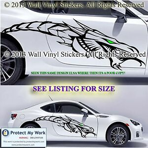 car stickers dragon graphic tribal butterfly vinyl decals van custom 2
