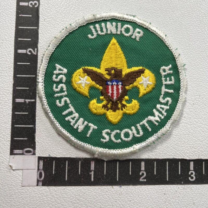 Vtg Boy Scout Patch JUNIOR ASSISTANT SCOUTMASTER 70Y3