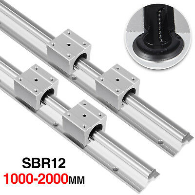 12mm Sbr12 1000-2000mm Linear Rail Slide Shaft Rod Guide Sbr12uu Blocks