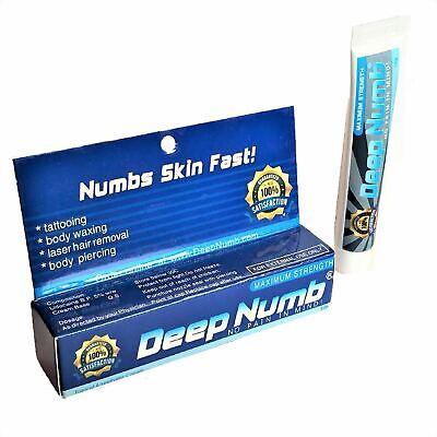 10gr DEEP NUMB Numbing Cream Anesthetic Painless Tattoo Piercing Waxing Laser (Numbing Cream Waxing)