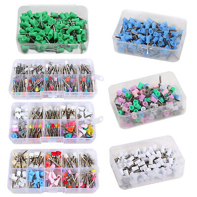 100200 Dental Rubber Prophy Polisher Polishing Cup Brush Latch Mixed Type Color