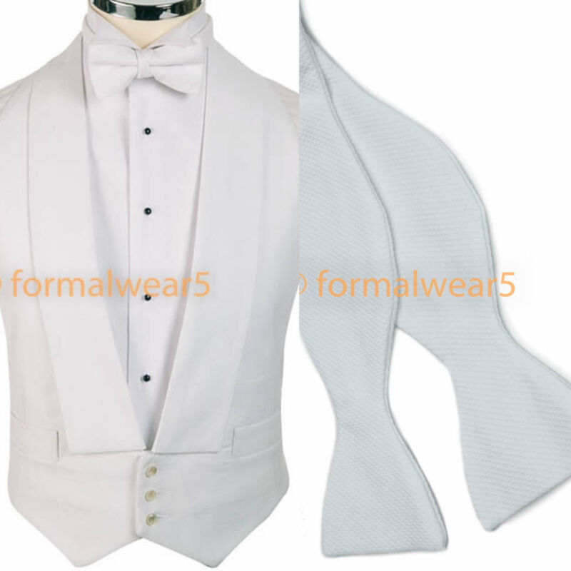 White Marcella Pin Dot Waistcoat Vest Wedding Formal UK Mens and Page Boys A14