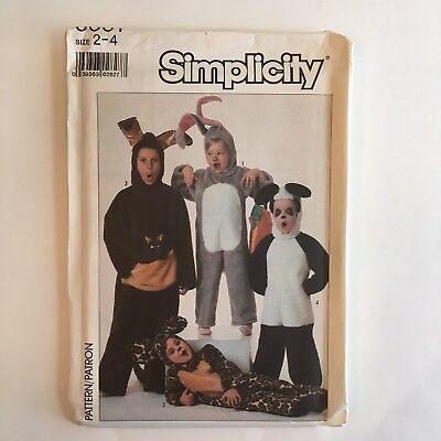Simplicity 8331 Halloween Costume Sewing Pattern Panda Kangaroo Leopard Kids 2-4](Kangaroo Halloween Costume Pattern)