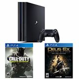 PlayStation 4 Pro 1TB Console + COD Infinite Warfare + Deus Ex:Mankind Divided