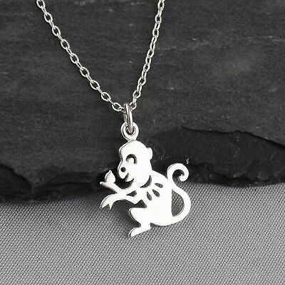 Year of the Monkey Necklace - 925 Sterling Silver - Chinese Zodiac Pendant NEW Chinese Zodiac Year Monkey