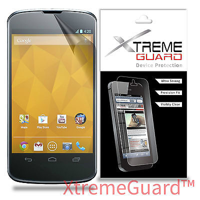XtremeGuard Clear LCD Screen Protector Shield Skin For LG Google Nexus 4, used for sale  Shipping to India