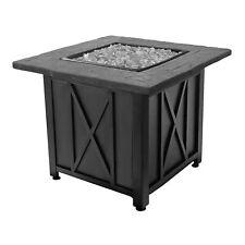 Blue Rhino Endless Summer Outdoor Propane Gas White Lava Rock Patio Fire Pit