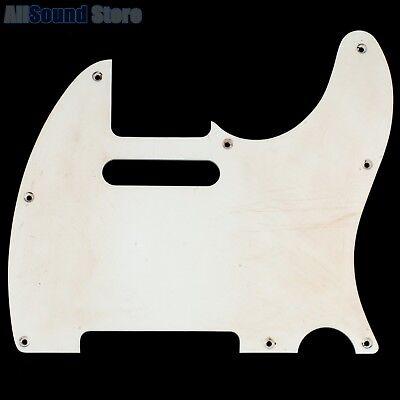1 Ply White Pickguard (NEW RELIC '62 1-Ply Non-Beveled Pickguard Fender Telecaster Tele AGED WHITE -MIJ )