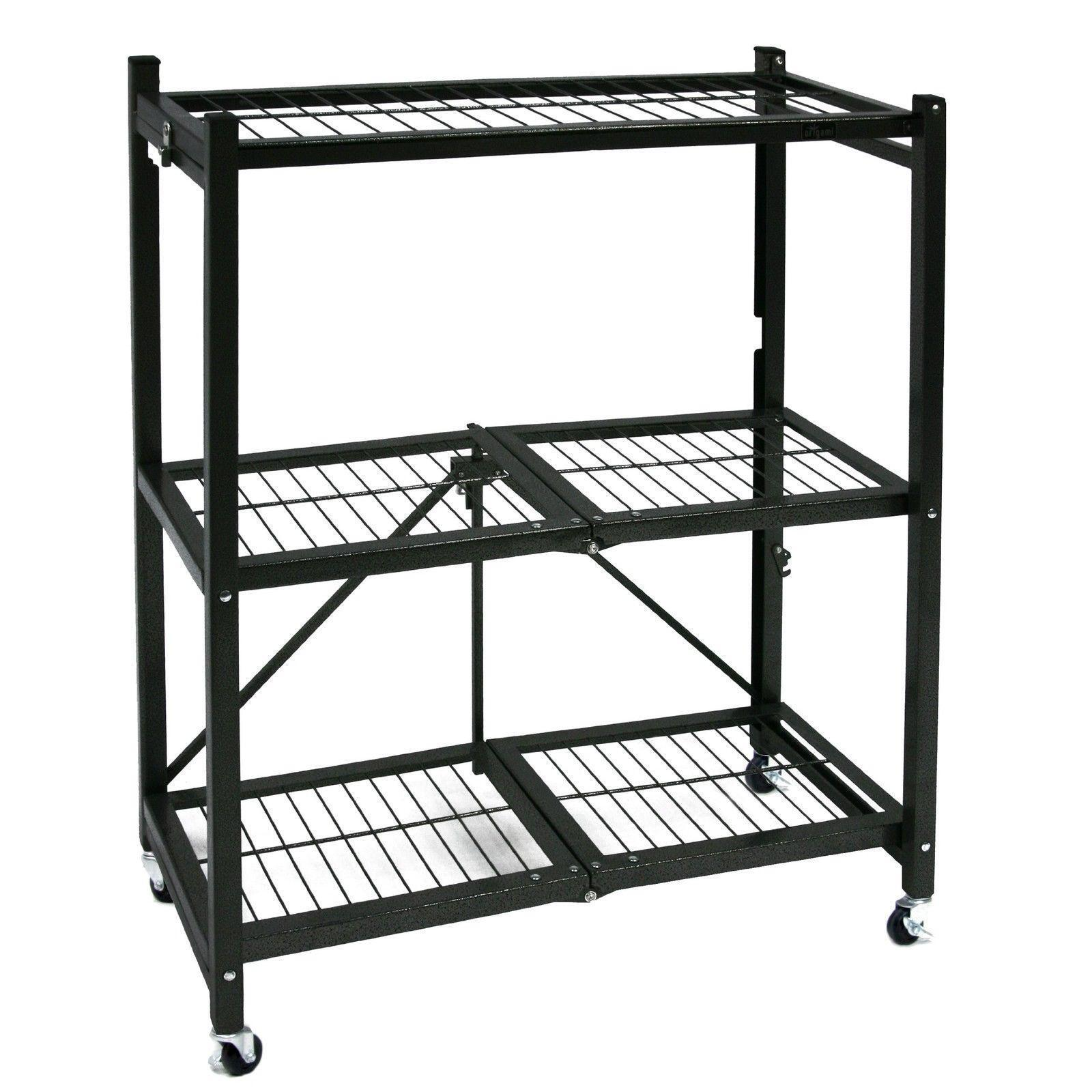 Origami General Purpose Steel Storage Rack With Wheels 3shelf Small ...