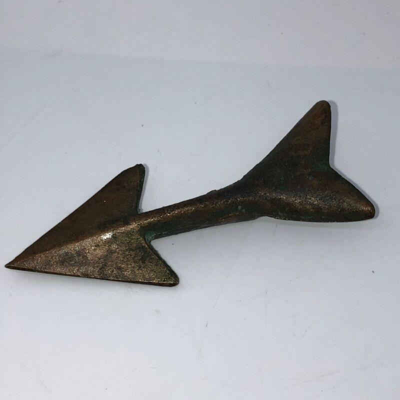 VINTAGE mid century Arrow Brass fishing harpoon.
