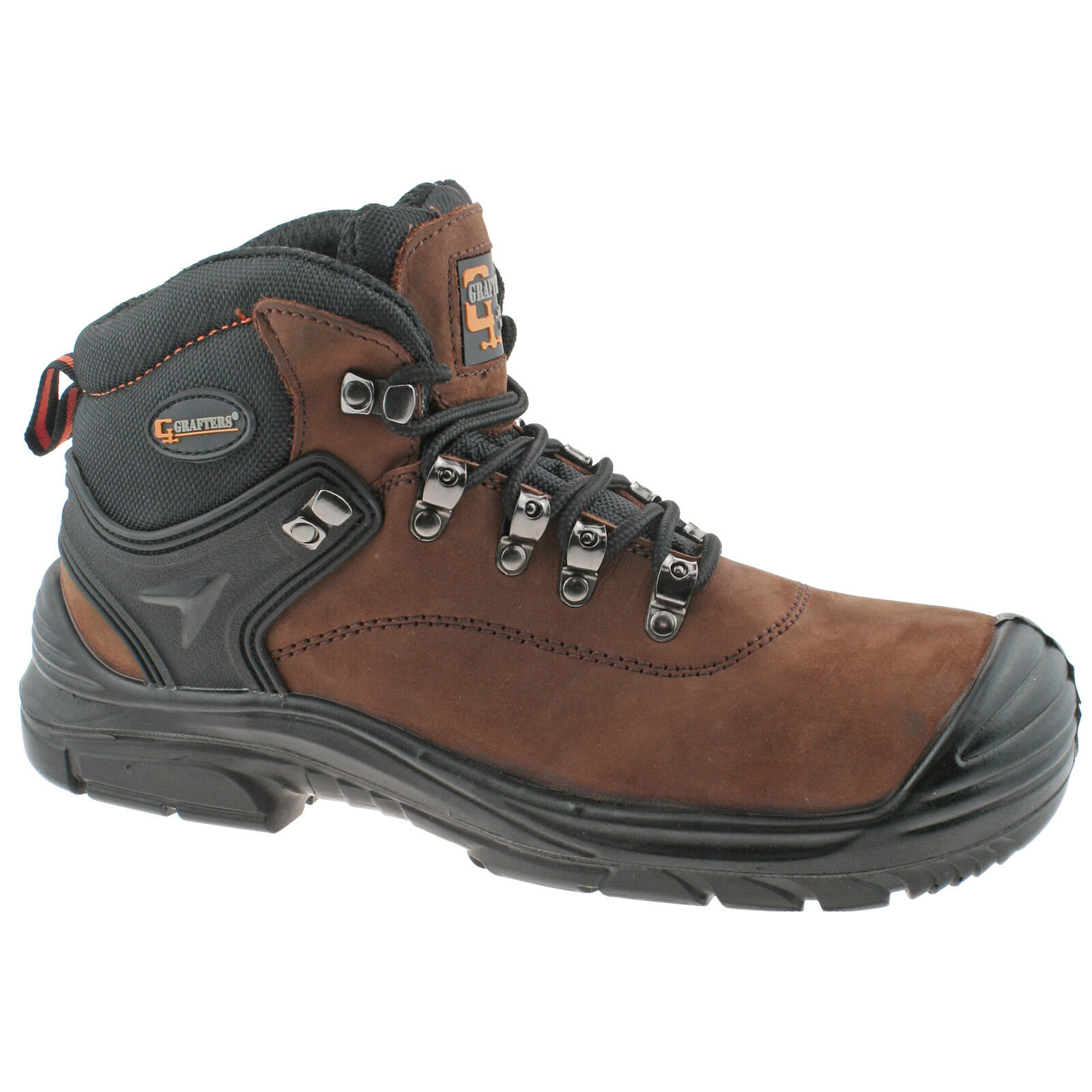 8e2166f5358 Details about MENS GRAFTERS BROWN LEATHER WATERPROOF WIDE FIT LACE UP  SAFETY BOOTS M9508B KD