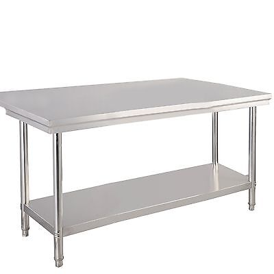 us stock 30x 48 stainless steel commercial kitchen work food prep table - Kitchen Prep Table Stainless Steel