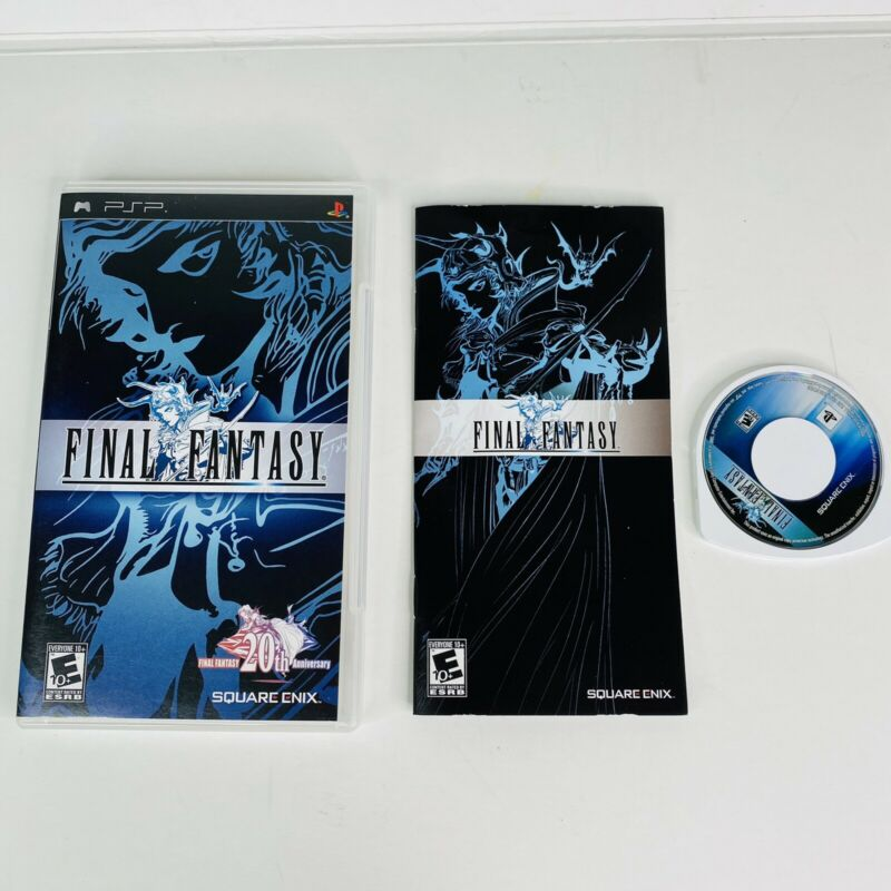 Final Fantasy (Sony PSP, 2007) 20th Anniversary Complete Tested WORKS